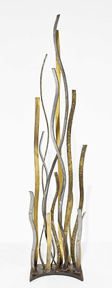 Large Signed Silas Seandel (American, b. 1937) Mixed Metal Sculpture, dtd 1974