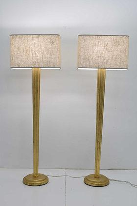 Pair of Gilt Floor Lamps