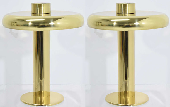 Laurel Lamp Co. Polished Brass Lamps