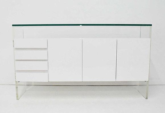 Milo Baughman for Thayer Coggin White  Laquer Sideboard