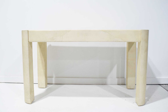 1970s Modern Table or Desk in Karl Springer Style