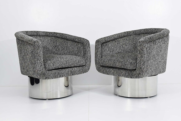 Leon Rosen for Pace Collection Pair of Swivel Tub Lounge Chairs