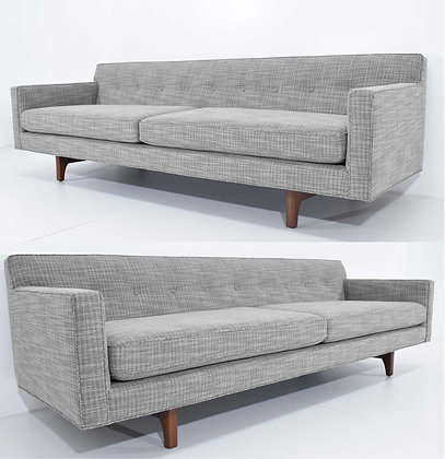 Edward Wormley for Dunbar Bracket Back Sofa(s) in New Upholstery