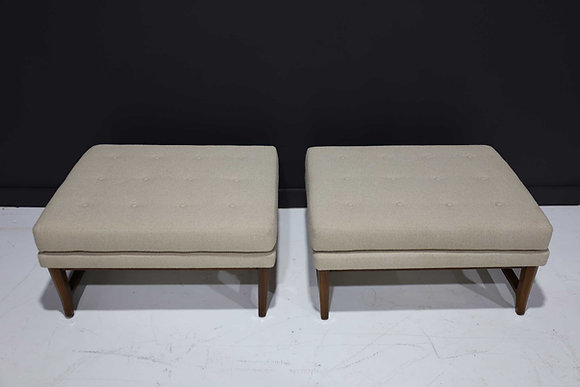 Pair of Edward Wormley for Dunbar Janus Collection Ottomans