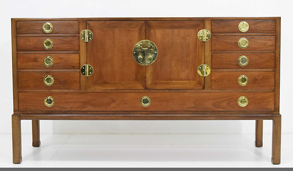 Edward Wormley for Dunbar Cabinet with Brass Hardware, 1950s