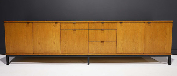Large Florence Knoll Style Credenza in White Oak