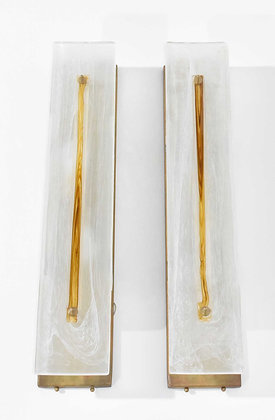 Very Large Murano Glass Wall Sconces
