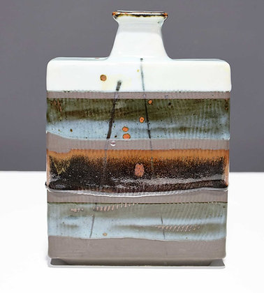 Rectangular Ceramic Vase by Albert Green (1914 - 1994)