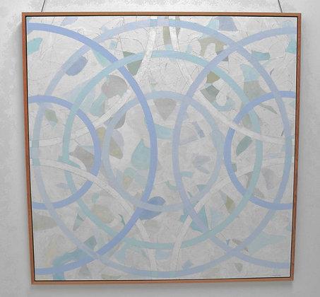 "Larry Locke, (American b. 1959) , Acrylic on Canvas, dtd 2019, 61.75"" x 61.75"""