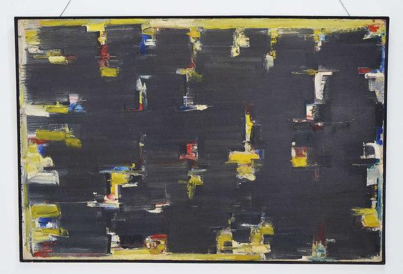 Avshalom Okashi (Israeli 1916 - 1980), Large Oil on Canvas