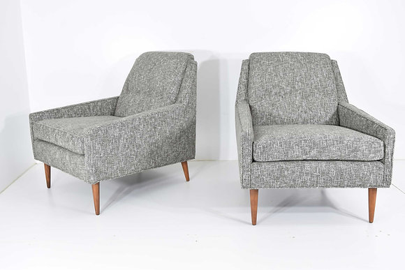 Mid Century Modern Style Lounge Chairs in New Upholstery