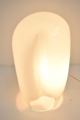 Vistosi Large Balloon Form White Glass Table Lamp