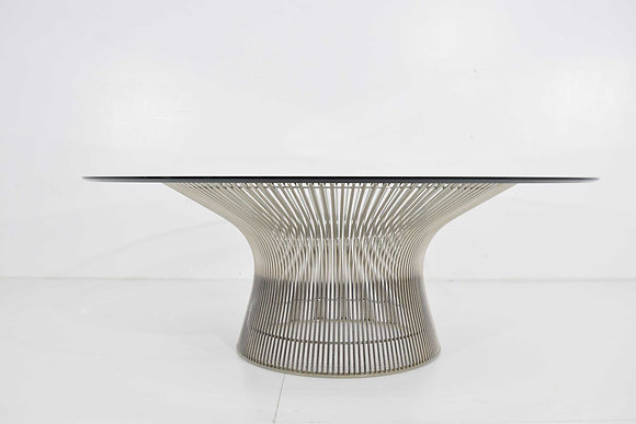 Warren Platner for Knoll Nickel Plated Cocktail Coffee Table 42""
