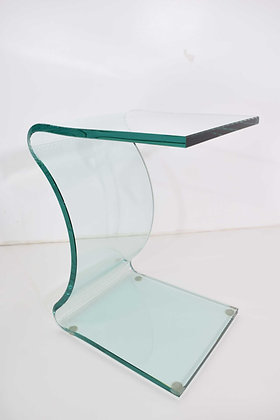 L. Fife Signed Glass Side Table