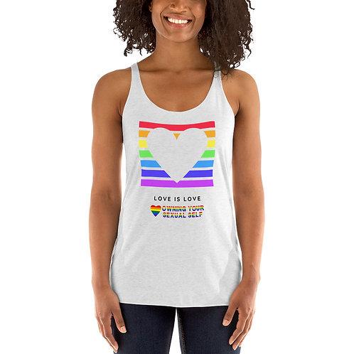 Love is Love Pride Women's Racerback Tank