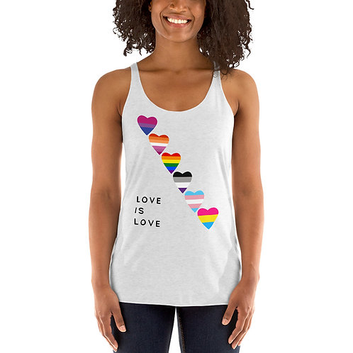 Love is Love Pride Flags Women's Racerback Tank