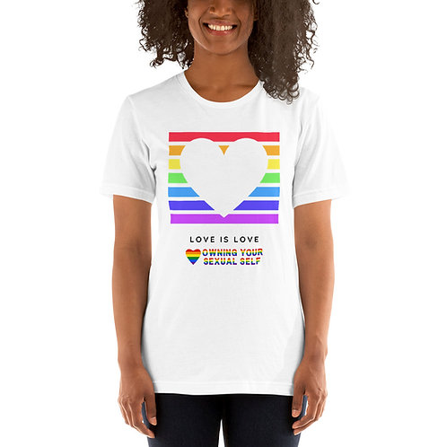 Love is Love Pride Short-Sleeve Unisex T-Shirt