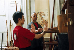 Wooden Man training.