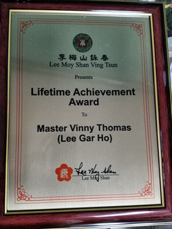 Award from Lee Moy Shan.