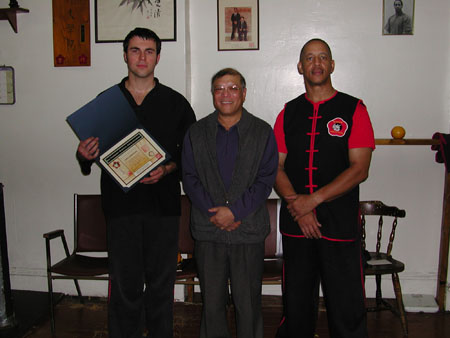 Receiving Sifu Certificate