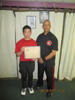 Receiving Instructor Certificate