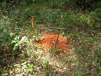Hand auger soil borings