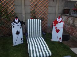 Queen of Hearts kaart-soldaten