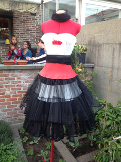 Alice's paper party-dress