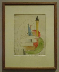 Picasso-Instruments de musqiue sur une table ronde-1915