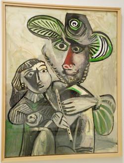 Picasso-Homme_à_la_flûte_et_enfant-1971