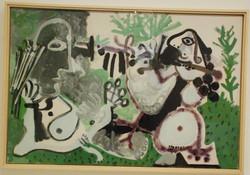 Picasso-La_flûte,_deux_personnages_dans_un_pré-1967