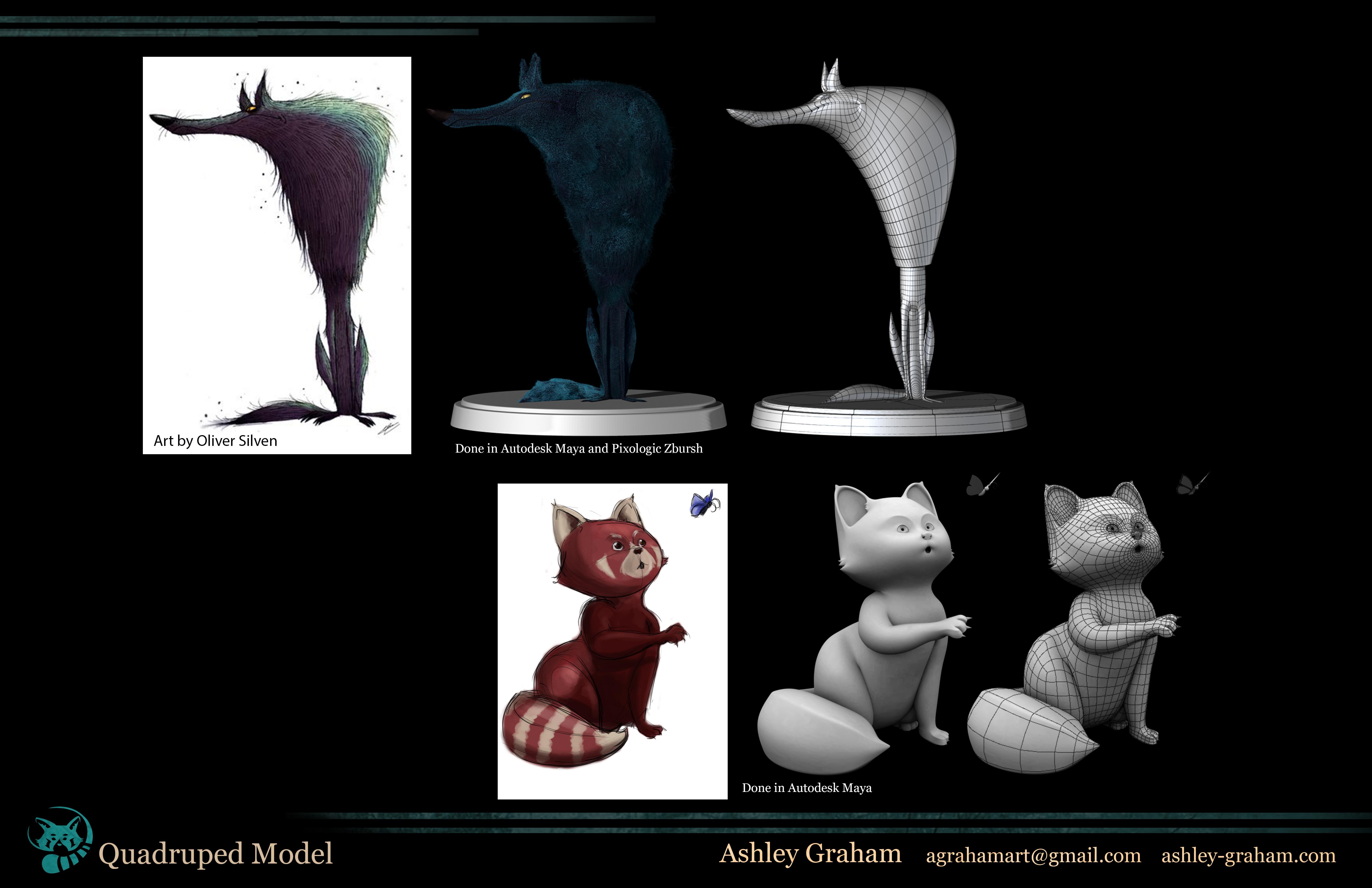 Quadruped models