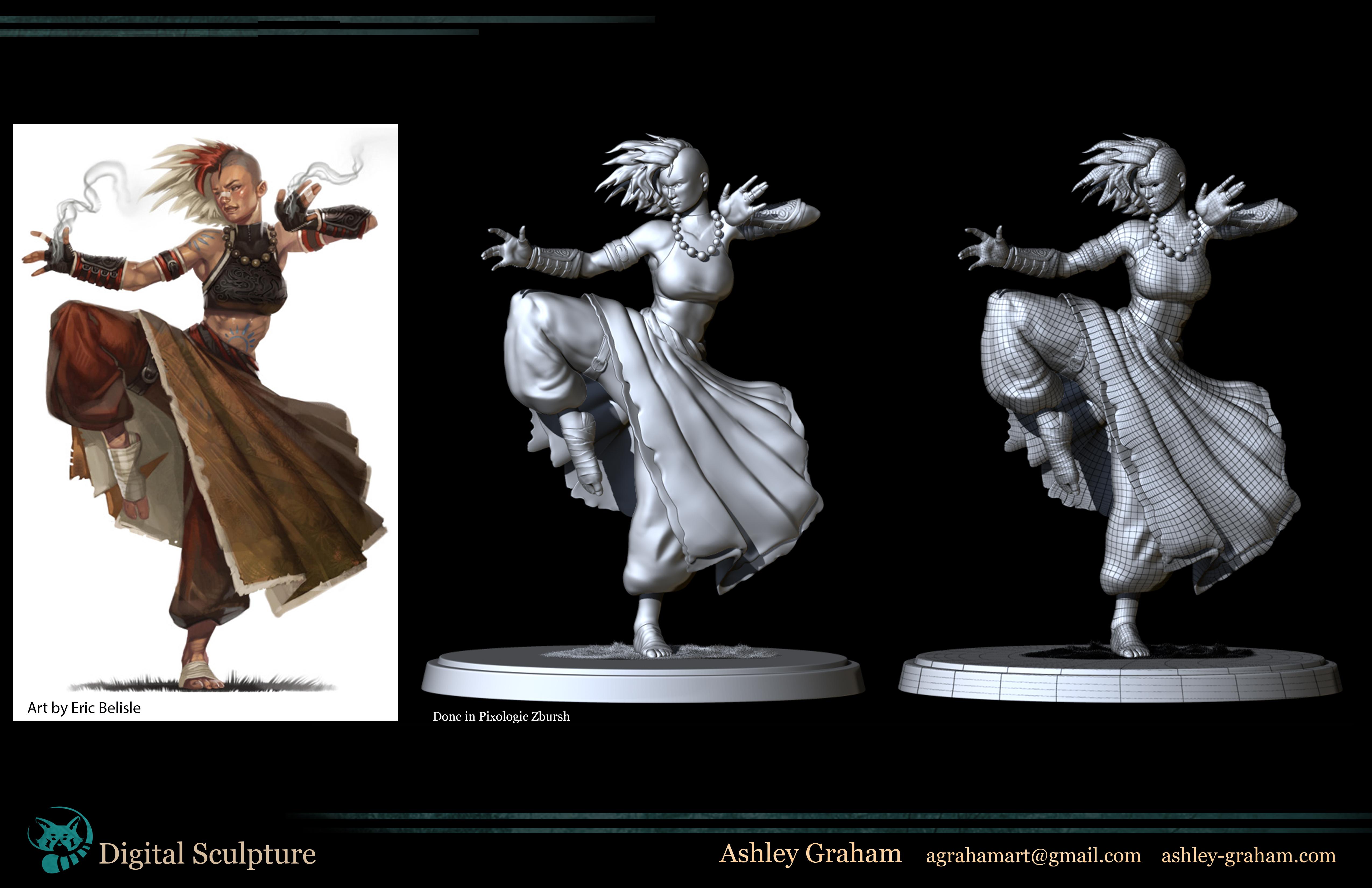 Monk Zbrush Model