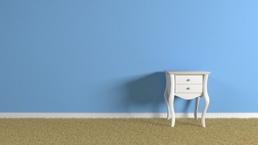 blue wall room