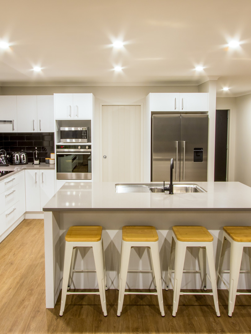 white and natural kitchen
