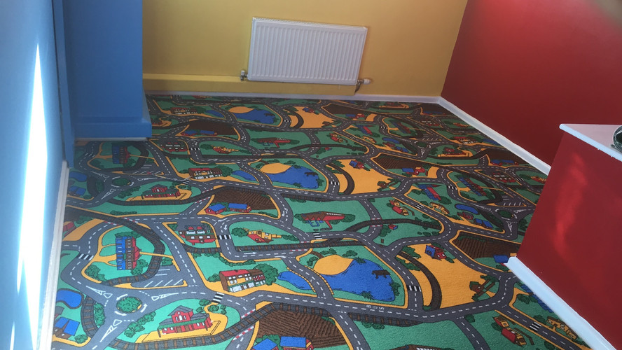 Carpet in kids bedroom