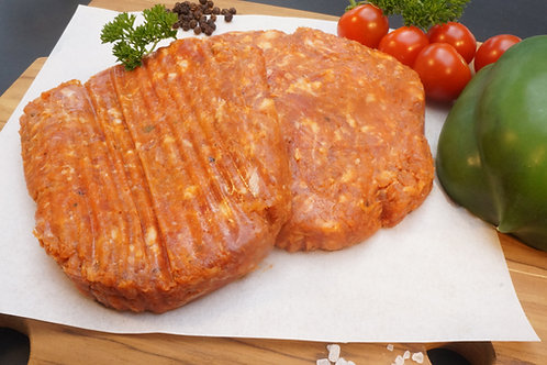 12 Beef & Chorizo Burgers (4oz, 6oz)