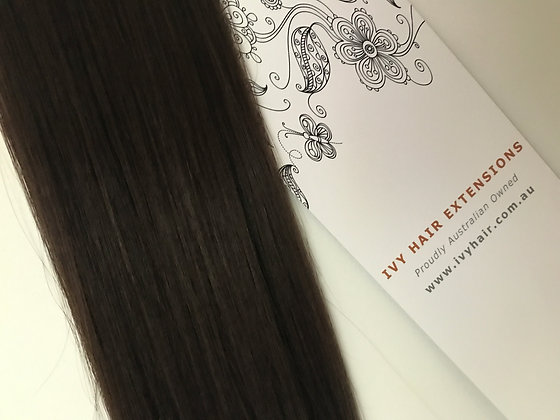 Premium Remy Tape Hair - Deep Brown #2