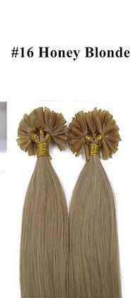 "KERATIN BOND REMY HUMAN HAIR 20""- #16 HONEY Blonde"