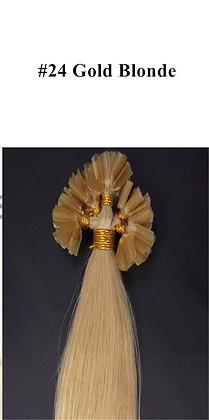"KERATIN BOND REMY HUMAN HAIR 20""- #24 GOLD Blonde"