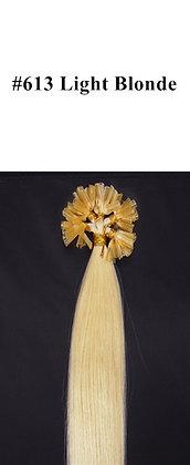 "KERATIN BOND REMY HUMAN HAIR 20""- #613 LIGHT Blond"