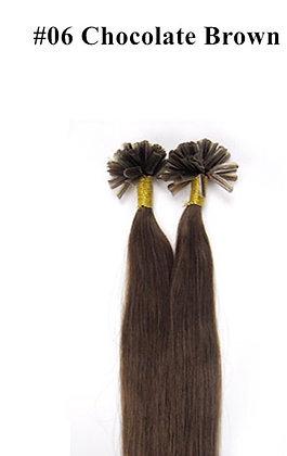"KERATIN BOND REMY HUMAN HAIR 20"" - #6 Chocolate Br"