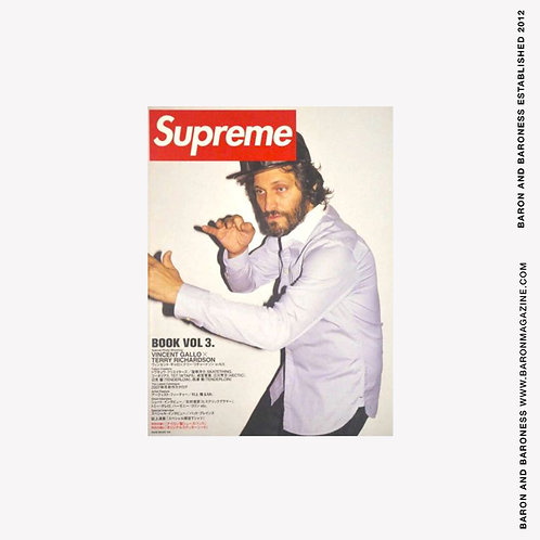 Supreme Book VOL 3 Vincent Gallo