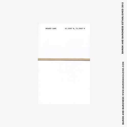 Signed, Limited Edition Helmut Lang Exhibition Catalogue