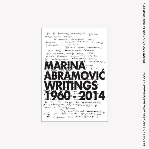 Marina Abramovic : Writings 1960 - 2014