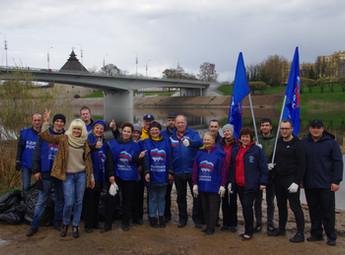 Представители Опоры России приняли участие в общегородском субботнике