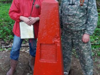 «ОПОРА РОССИИ» приняла участие по восстановление обелиска неизвестным героям войны.