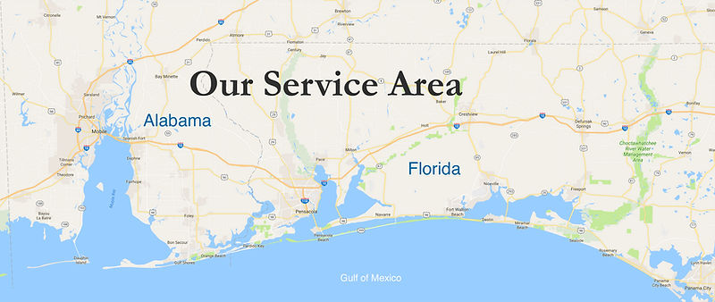 Pensacola Photo Booth service area coverage