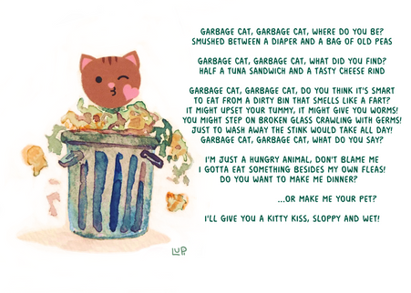 Garbage cat