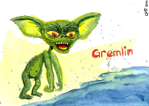 Gremlin watercolor